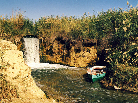 Egypt's only waterfall at Wadi Rayyan