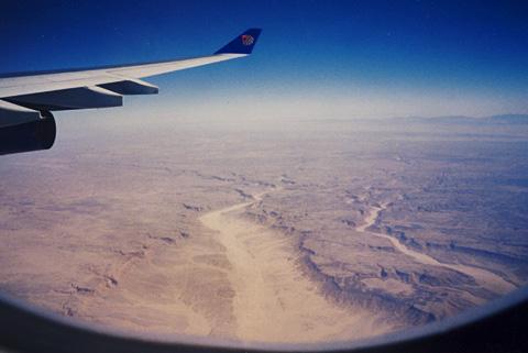 EgyptAir over the desert