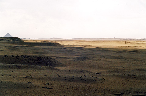 The enclosure of Gisr el-Mudir lit by the sun