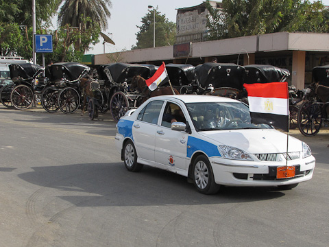 Taxi and Caleches in Luxor