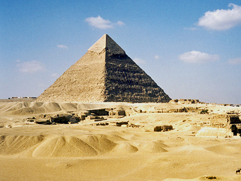 Pyramid of Khafre from the south-east