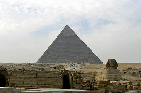 Khafre's Valley Temple and Sphinx