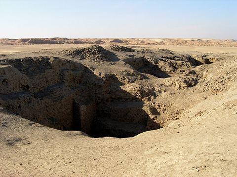 Excavations on the top of Mastaba K1