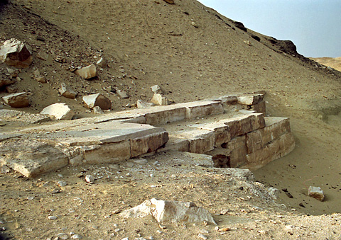 Remains of Amenemhet's funerary chapel