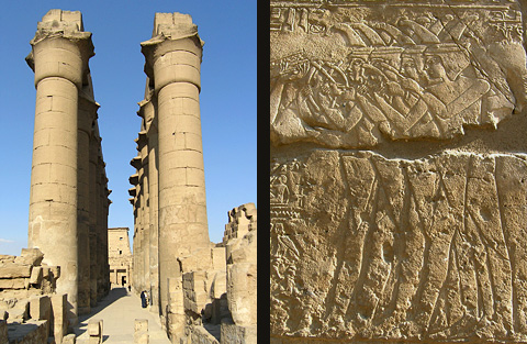 Amenhotep's Colonnade and scene from Opet
