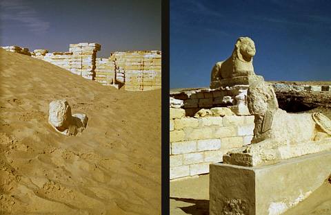 Sphinxes at Medinet Madi
