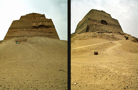 West and north face of the pyramid