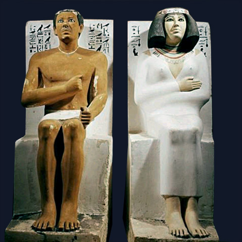 Rahotep and Nofret (Cairo Egyptian Museum)