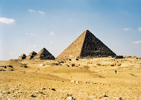 Menkaure's Pyramid and Queens' Pyramids