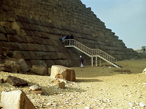 Entrance to Menkaure's Pyramid