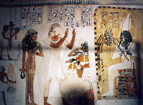Menna & Henuttawy before Osiris