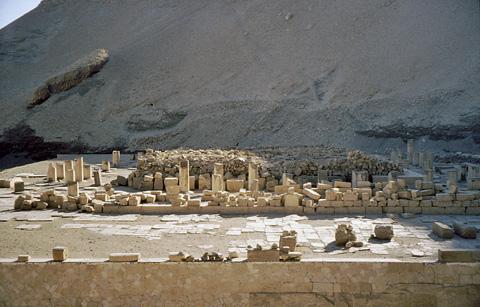 Main platform of Mentuhotep's temple