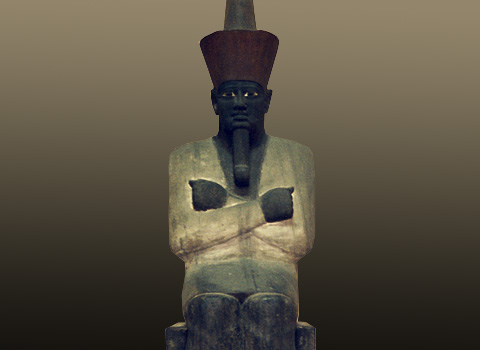 Statue of Mentuhotep from his temple (Cairo Egyptian Museum)