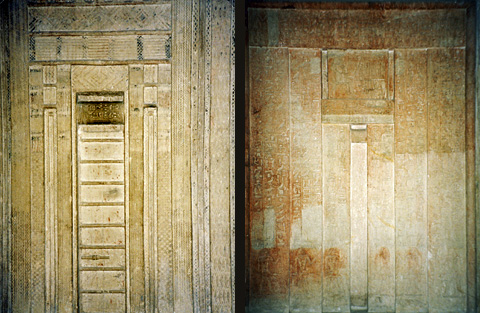False doors of Mereruka and his son Meriteti