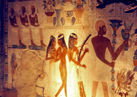 Female musicians in the tomb of Nakht