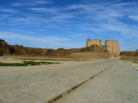 Modern approach to Edfu Temple