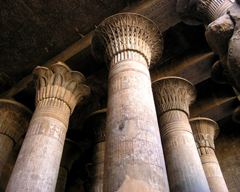 Columns in the Hypostyle Hall
