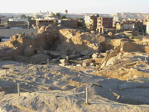 Ancient Northern quarry at Aswan