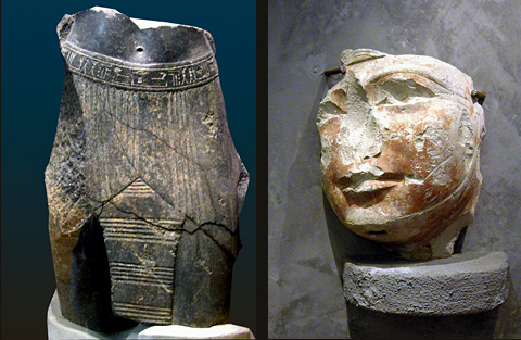 Museum artefacts from Qaw