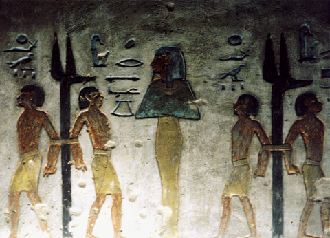 Foreign prisoners in the tomb of Rameses III