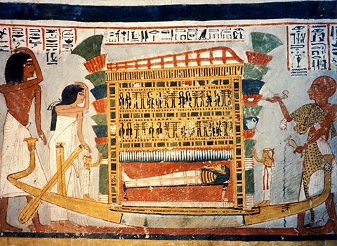 The mummy of Roy in his shrine