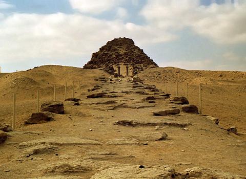 Sahure's pyramid causeway