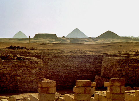 View towards Dahshur from South Saqqara
