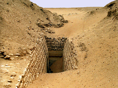 Pyramid complex of sekhemkhet egyptian monuments - Faience corridor ...