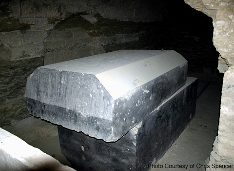 Bull's sarcophagus in the Serapeum