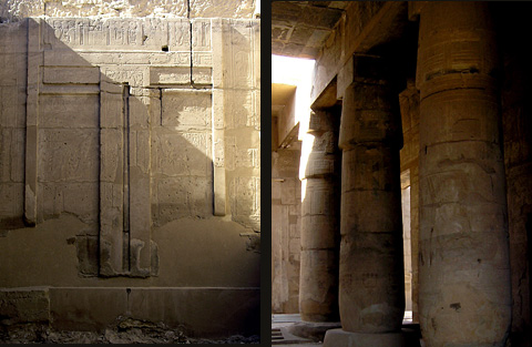False Door of Rameses I and Columns in the Hypostyle Hall
