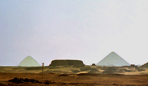 The Mastaba of Shepseskaf in the foreground