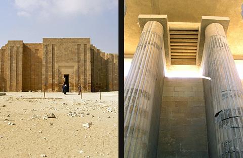 Temple facade and entrance colonnade