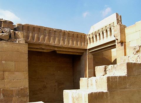 Djed frieze in Temple 'T'