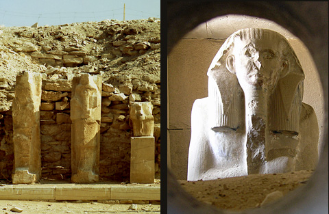 Statues of Djoser at Saqqara