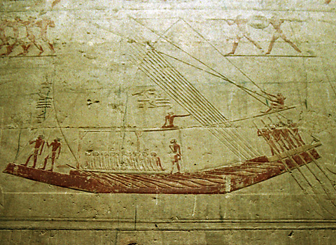 Boat relief in the tomb of Ti