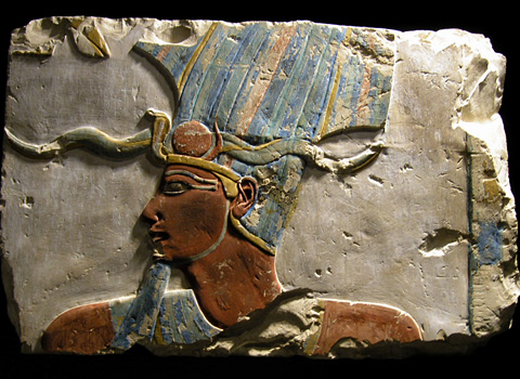Relief of Tuthmose III from his temple