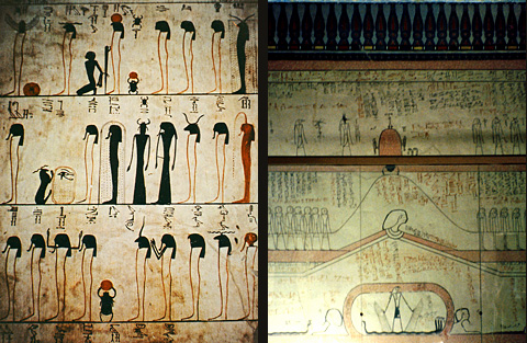 Scenes from the vestibule and burial chamber