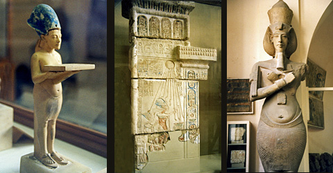 Amarna exhibit at the Cairo Museum, photo from the site Egyptian Monuments http://egyptsites.wordpress.com/