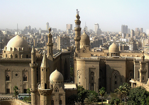 View of Sultan Hasan and el-Rifai mosques from the Citadel walls