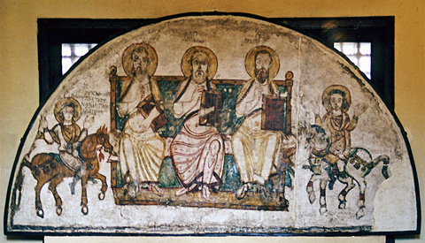 Coptic fresco 7th-8th century