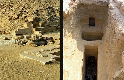 Dynasty II royal mastabas near the Pyramid of Unas