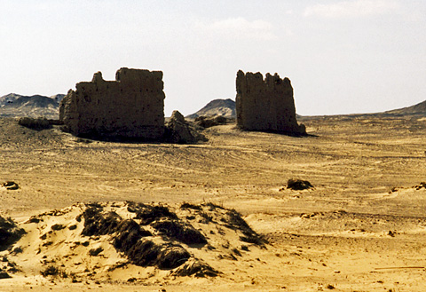 Remains of Roman Fortress at el-Hayz