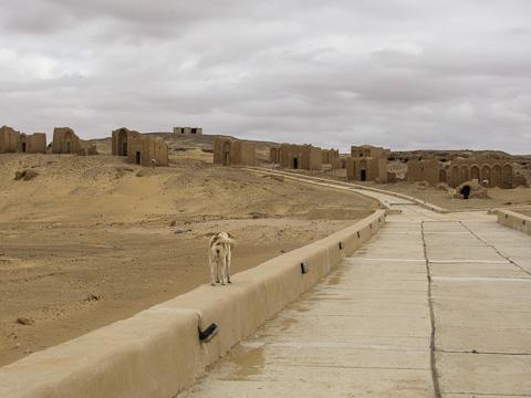 Ancient Christian cemetery at Bagawat