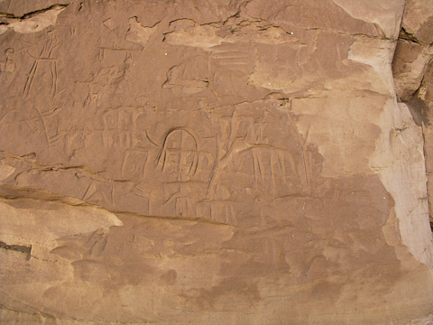 Rock carvings at Tineida