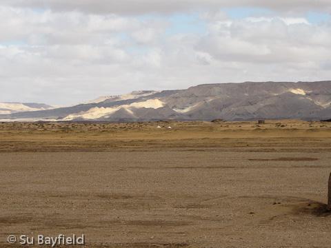 View towards Ain Asil from Qila el-Dab'a