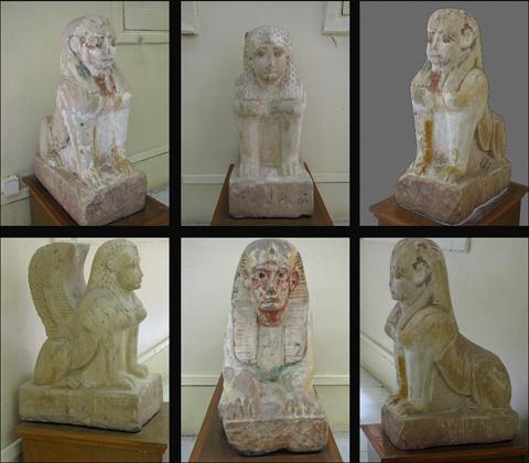 Sphinxes from Deir el-Hagar