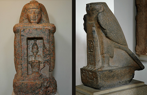 Granite statues from Tell el-Maskhuta