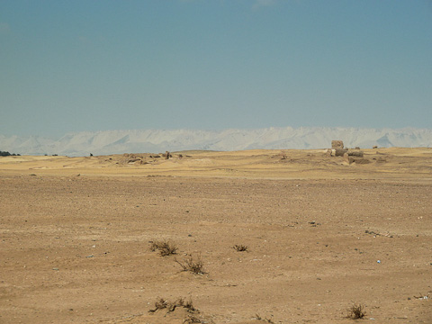 View of Amheida excavation site from the road