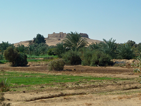 The hilltop fortress of Qasr el-Ghueita