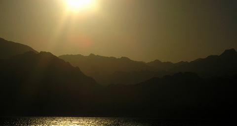 Mountains surrounding Dahab